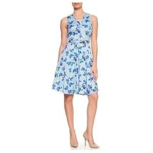 Banana Republic Print Ladder Lace Fit Flare Dress